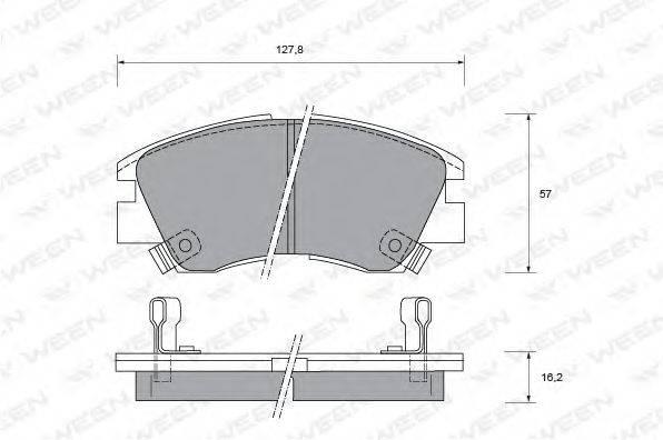WEEN 1511403 Комплект тормозных колодок, дисковый тормоз