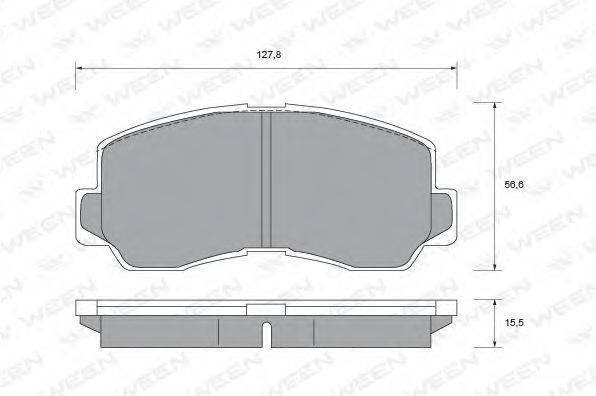 WEEN 1511434 Комплект тормозных колодок, дисковый тормоз