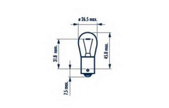 NARVA 17649 Лампа накаливания, фонарь указателя поворота; Лампа накаливания, фонарь указателя поворота