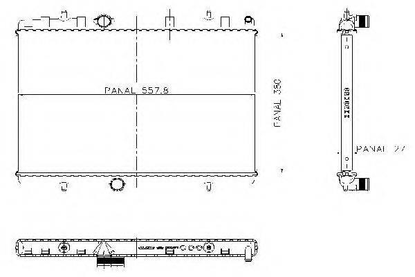 ORDONEZ 1020773815 Радиатор, охлаждение двигателя
