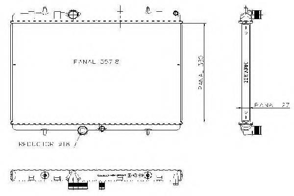 ORDONEZ 1020774815 Радиатор, охлаждение двигателя