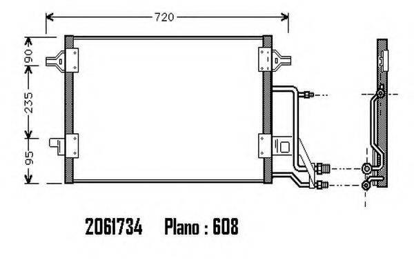 ORDONEZ 2061734 Конденсатор, кондиционер