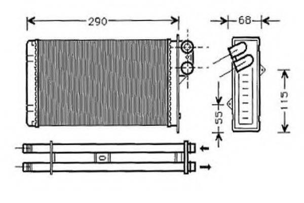 ORDONEZ 2061942 Теплообменник, отопление салона