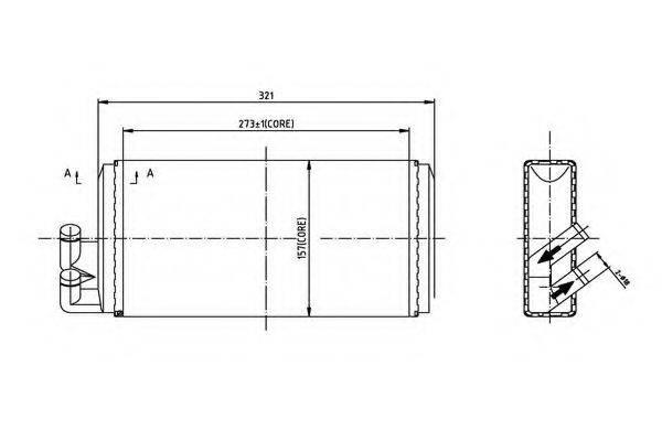 ORDONEZ 2066901 Теплообменник, отопление салона