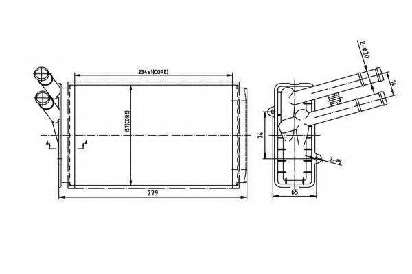ORDONEZ 2066910 Теплообменник, отопление салона