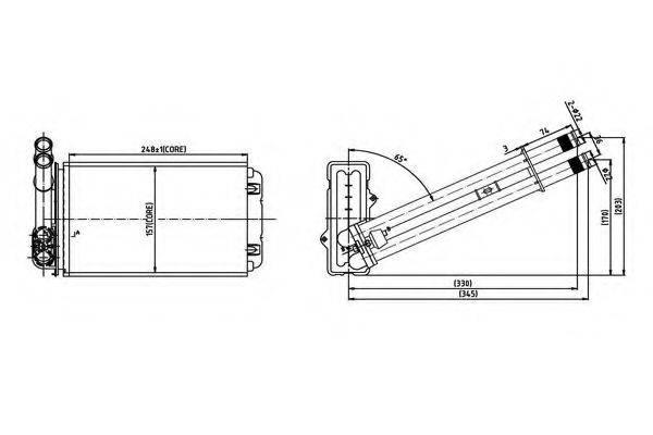ORDONEZ 2066914 Теплообменник, отопление салона