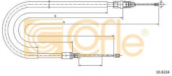 COFLE 106224 Трос, стояночная тормозная система