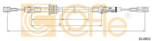 COFLE 106852 Трос, стояночная тормозная система
