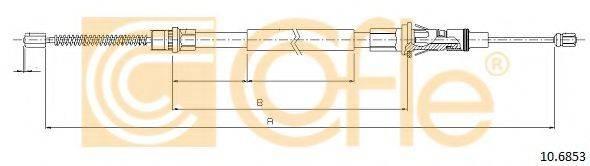 COFLE 106853 Трос, стояночная тормозная система