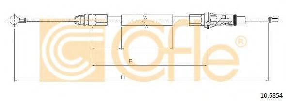 COFLE 106854 Трос, стояночная тормозная система
