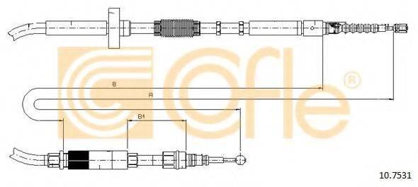 COFLE 107531 Трос, стояночная тормозная система
