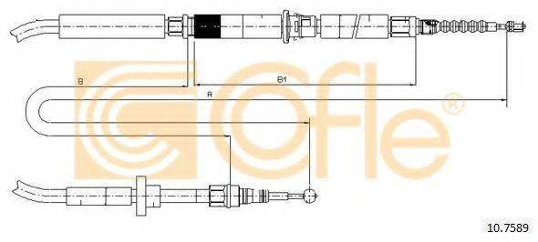 COFLE 107589 Трос, стояночная тормозная система