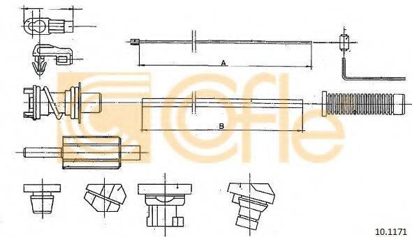 COFLE 101171 Тросик газа