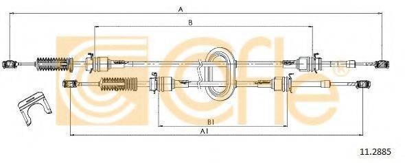 COFLE 112885 Трос, ступенчатая коробка передач