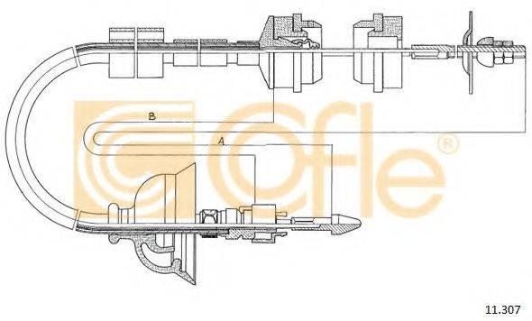 COFLE 11307 Трос, управление сцеплением