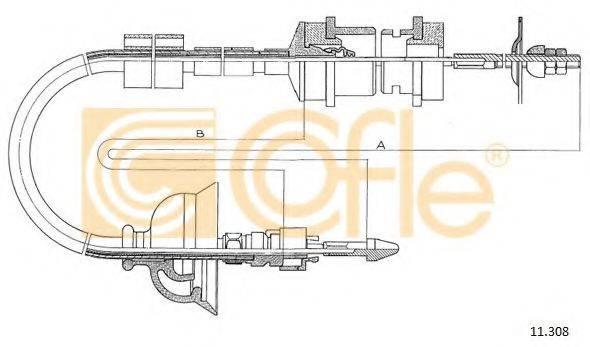 COFLE 11308 Трос, управление сцеплением