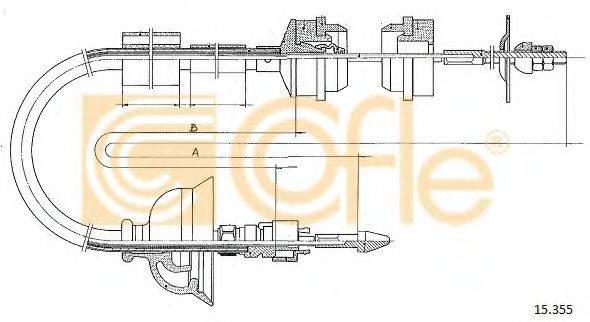 COFLE 15355 Трос, управление сцеплением
