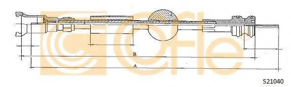 COFLE S21040 Тросик спидометра