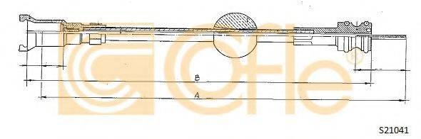 COFLE S21041 Тросик спидометра