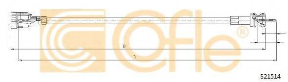 COFLE S21514 Тросик спидометра