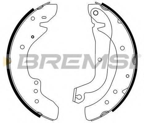 BREMSI GF0179 Комплект тормозных колодок