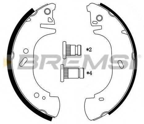 BREMSI GF0233 Комплект тормозных колодок