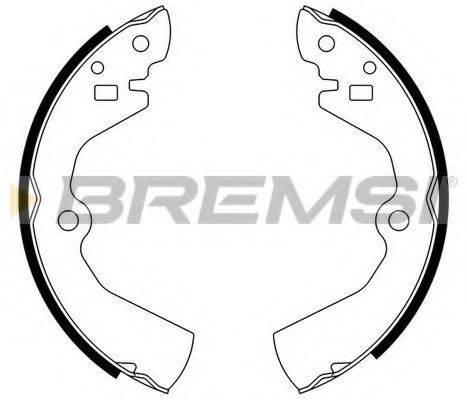 BREMSI GF0734 Комплект тормозных колодок