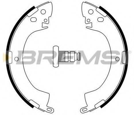 BREMSI GF0813 Комплект тормозных колодок