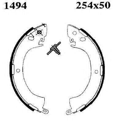 BSF 01494 Комплект тормозных колодок