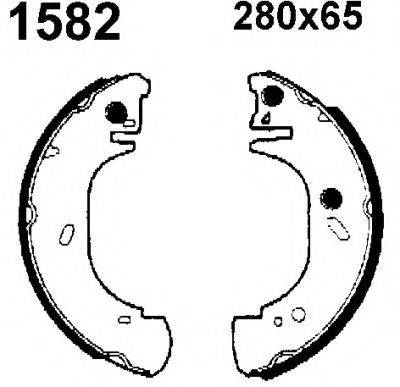 BSF 6393 Комплект тормозов, барабанный тормозной механизм