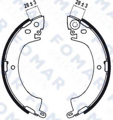 FOMAR FRICTION FO0533 Комплект тормозных колодок