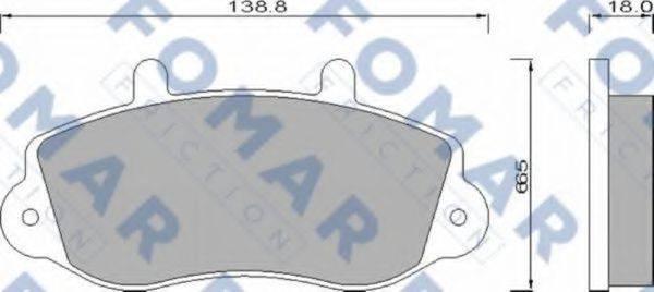 FOMAR FRICTION FO677381 Комплект тормозных колодок, дисковый тормоз