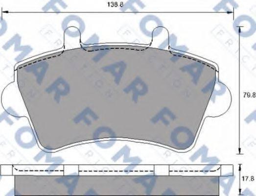 FOMAR FRICTION FO683681 Комплект тормозных колодок, дисковый тормоз