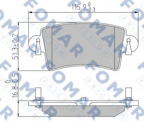 FOMAR FRICTION FO684281 Комплект тормозных колодок, дисковый тормоз