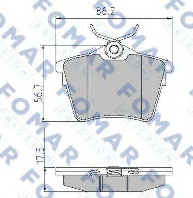 FOMAR FRICTION FO919581 Комплект тормозных колодок, дисковый тормоз