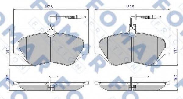 FOMAR FRICTION FO934981 Комплект тормозных колодок, дисковый тормоз
