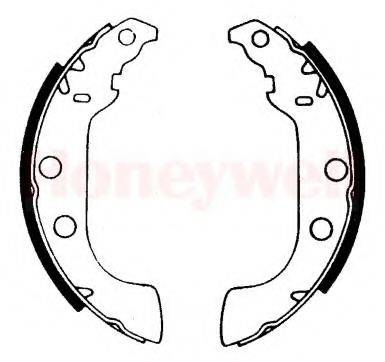 BENDIX 362342B Комплект тормозных колодок