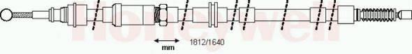 BENDIX 432923B Трос, стояночная тормозная система