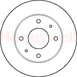 BENDIX 561402B Тормозной диск