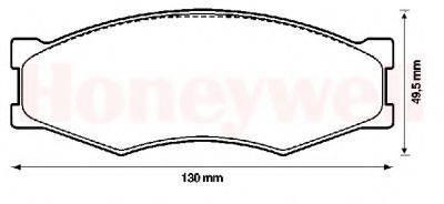 BENDIX 572312B Комплект тормозных колодок, дисковый тормоз
