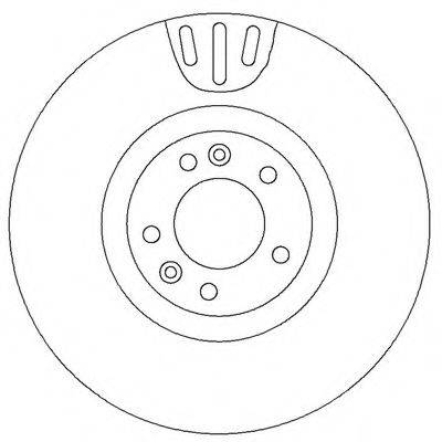 BENDIX 562398B Тормозной диск