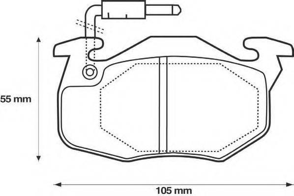 BENDIX 571332B Комплект тормозных колодок, дисковый тормоз