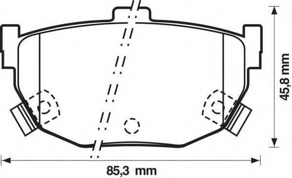 BENDIX 572127B Комплект тормозных колодок, дисковый тормоз