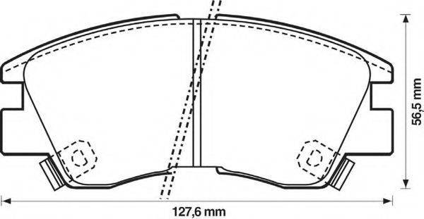 BENDIX 572281B Комплект тормозных колодок, дисковый тормоз