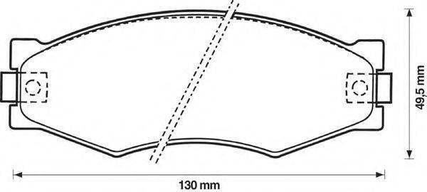 BENDIX 572313B Комплект тормозных колодок, дисковый тормоз