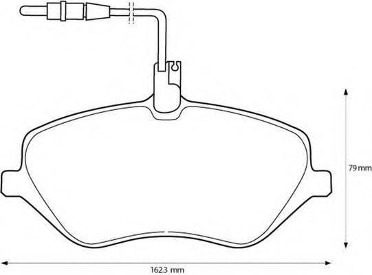 BENDIX 573131B Комплект тормозных колодок, дисковый тормоз