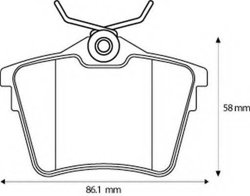 BENDIX 573133B Комплект тормозных колодок, дисковый тормоз