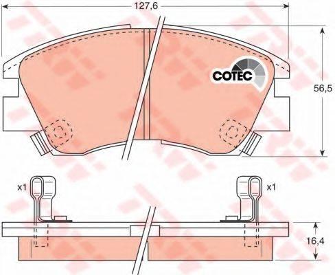 DR!VE+ DP1010100164 Комплект тормозных колодок, дисковый тормоз