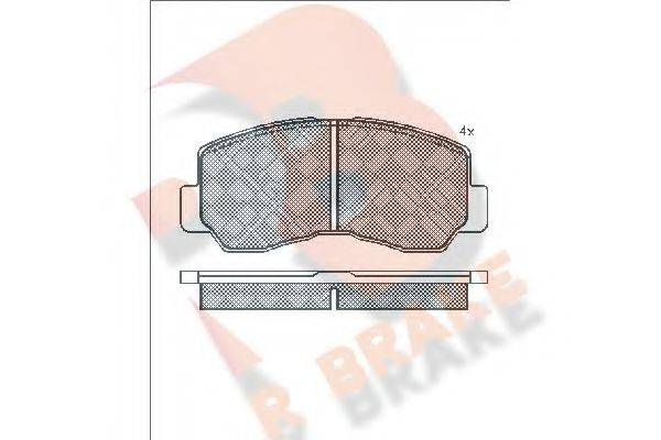 R BRAKE RB0623 Комплект тормозных колодок, дисковый тормоз