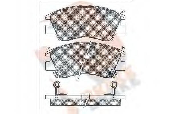 R BRAKE RB0701 Комплект тормозных колодок, дисковый тормоз